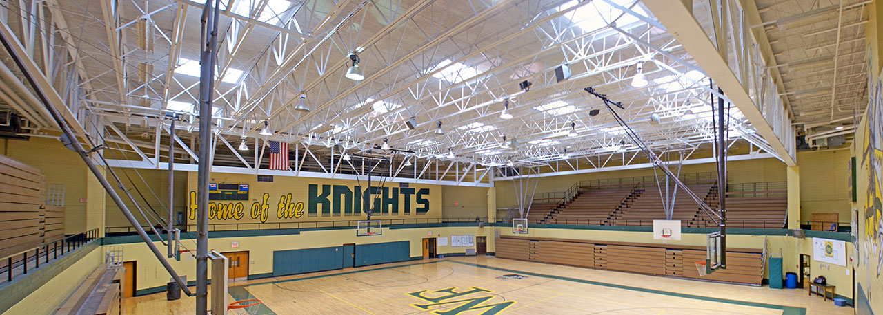 commercial skylights school gym basketball court