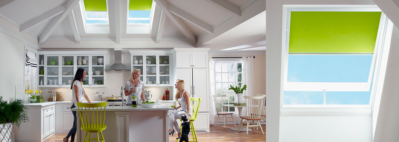 kitchen skylights venting fresh air