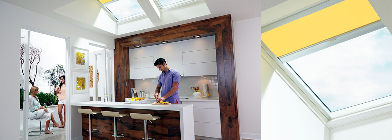 Fresh air skylights to help vent your kitchen