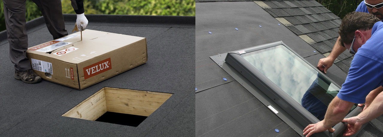 skylight installation deck mounted