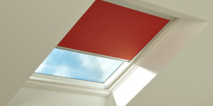 Red blind in skylight
