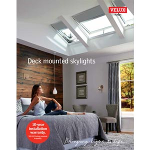 Deck mounted skylights cover