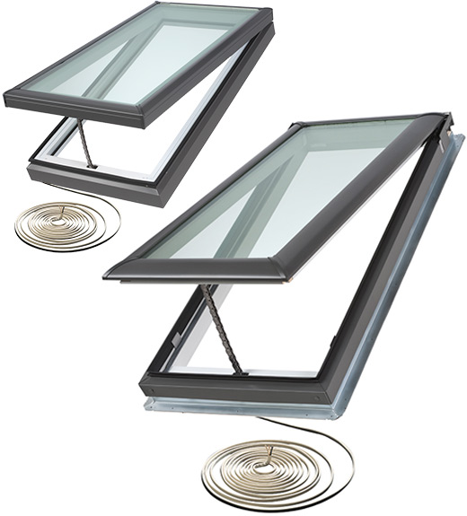 Velux Electric Quot Fresh Air Quot Skylight Curb Or Deck Mounted