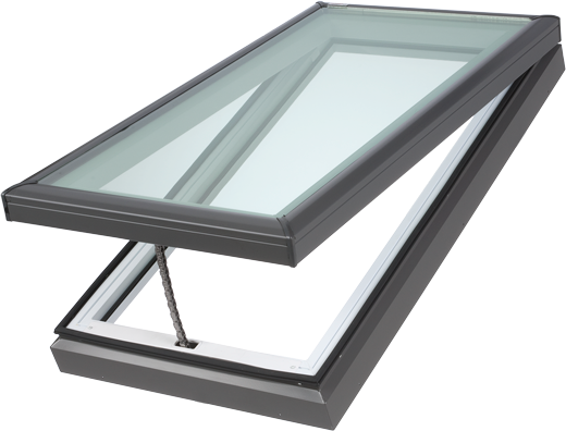 Velux manual fresh air skylight curb mounted skylights for Velux fresh air skylight