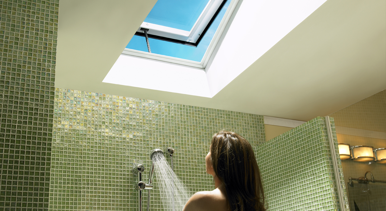 Velux bathroom inspiration gallery of images for How to clean velux skylights