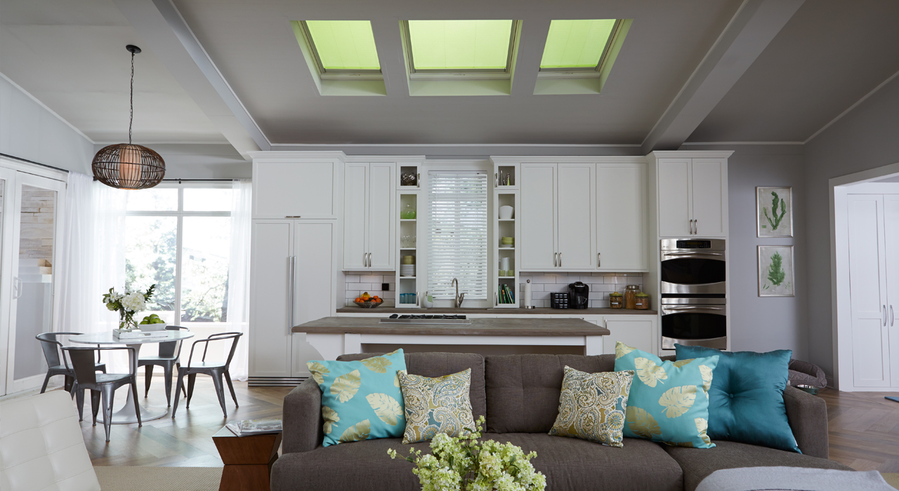 Velux kitchen inspiration gallery of images for Large skylights