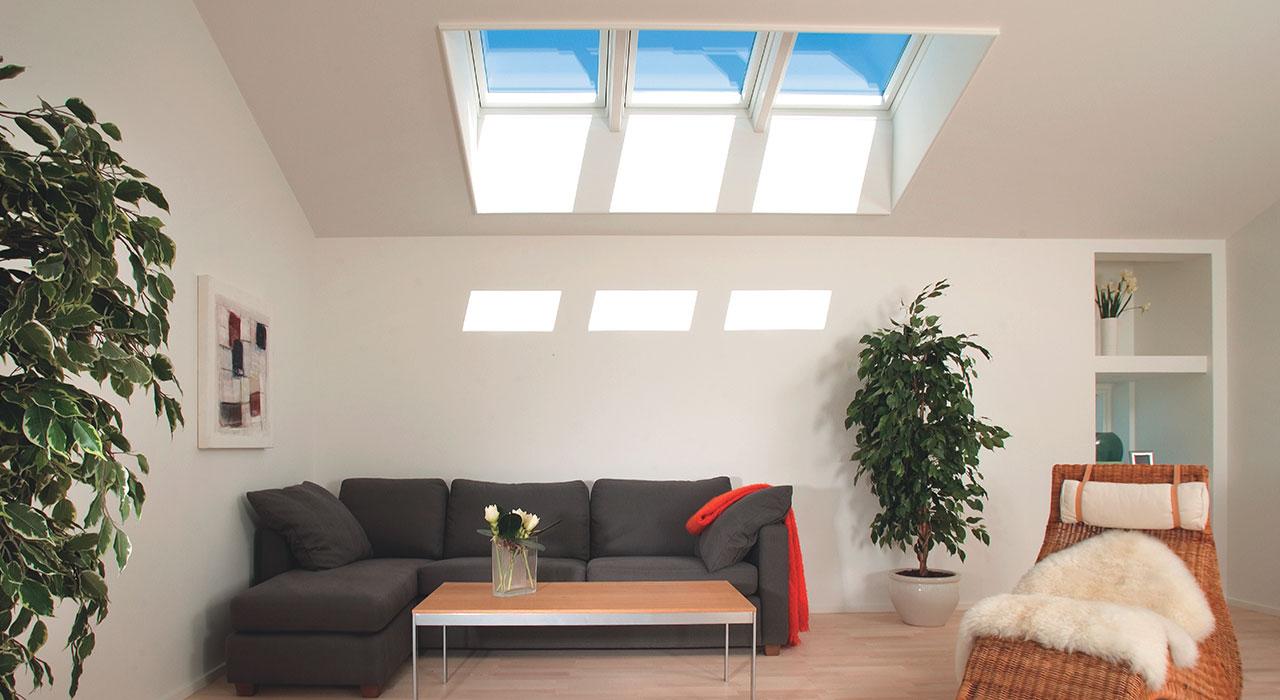 Velux living room inspiration gallery for Large skylight