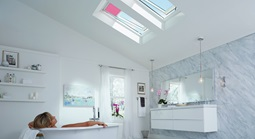 Skylights in bathroom